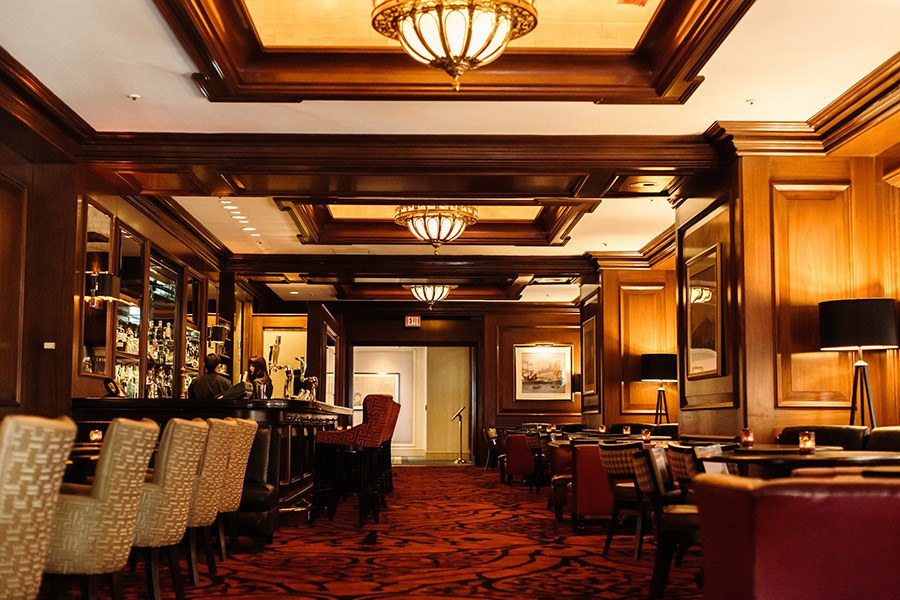 Rowes Wharf Bar is a top hotel bar per Forbes Travel Guide