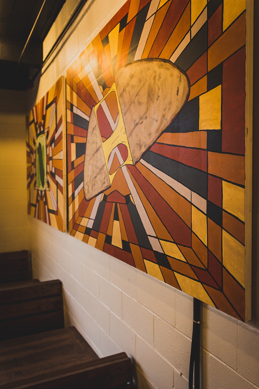 The grilled cheese mural at Brato Brewhouse + Kitchen