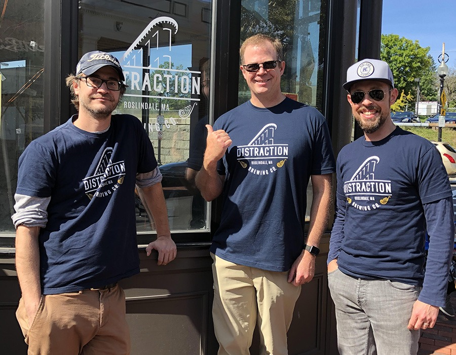 Distraction Brewing Company cofounders (L to R) Justin, Mike Estey, and Patrick French