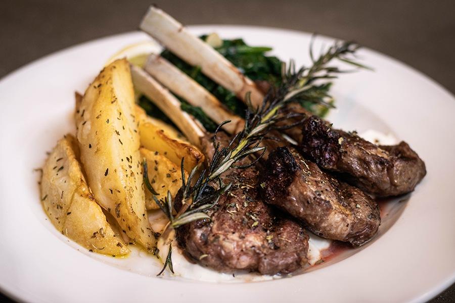 Grilled lamb chops at Greek Street