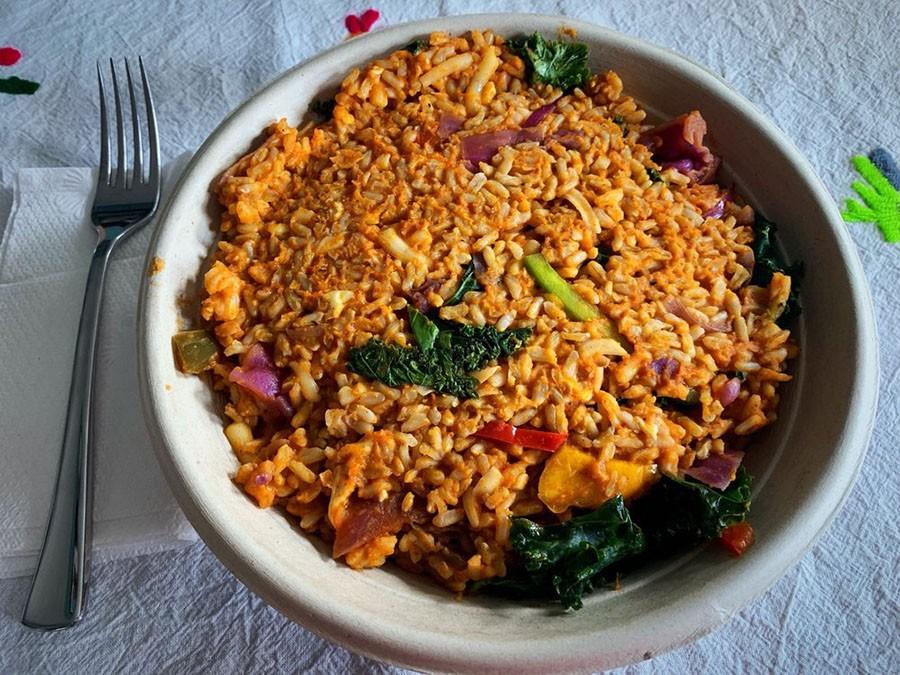Oasis Vegan Veggie Parlor rice bowl Yelp