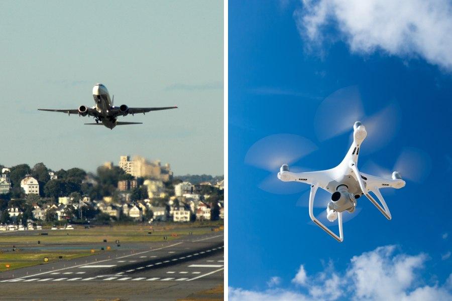 logan airport drone