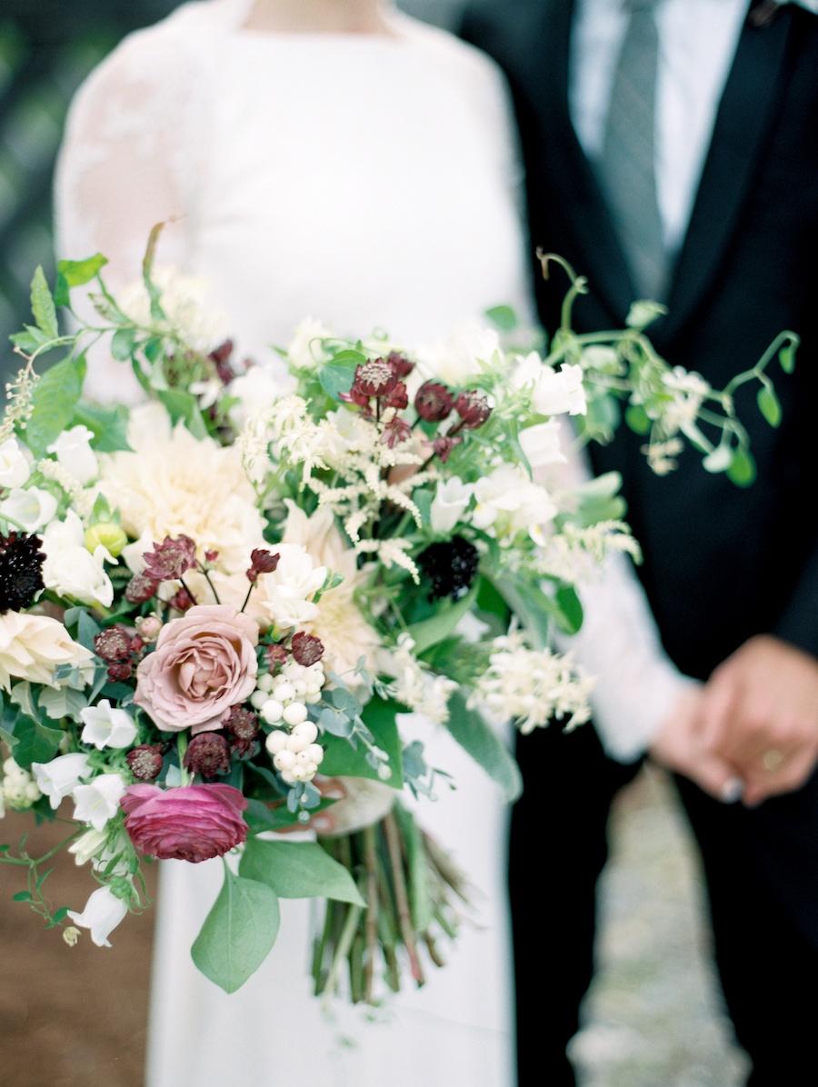 bó hoa cô dâu mùa thu