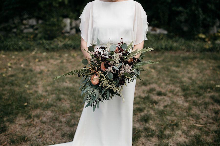 bó hoa cưới mùa thu