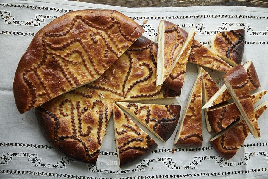 """Gata, a traditional Armenian sweet bread, from the new cookbook, """"Lavash"""""""