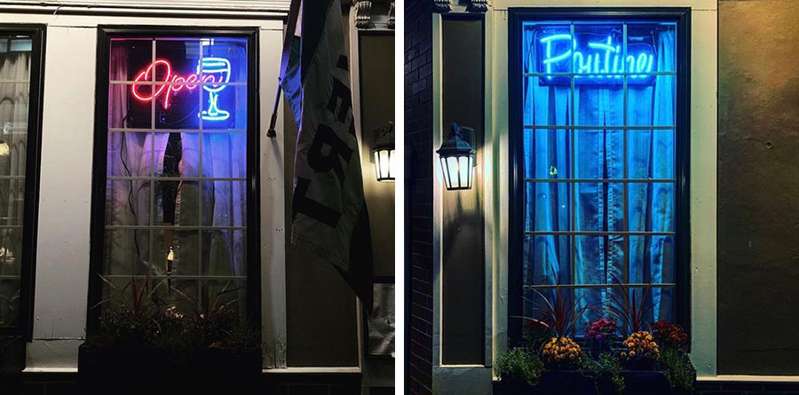 Cafe du Pays neon signs