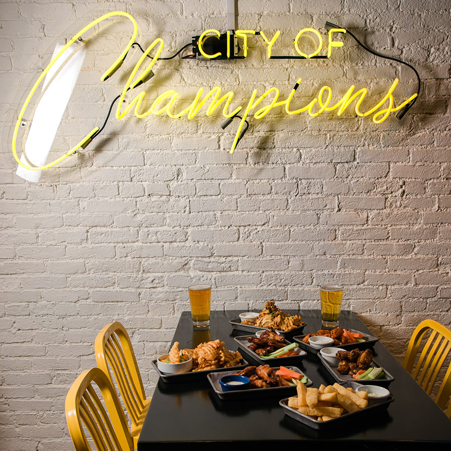 Hurricane's at the Garden City of Champions neon