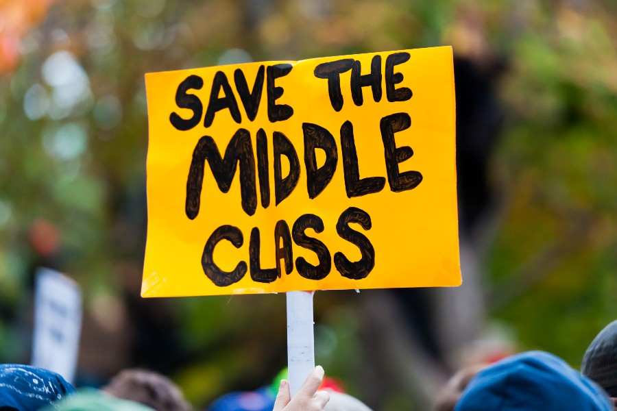 save the middle class sign