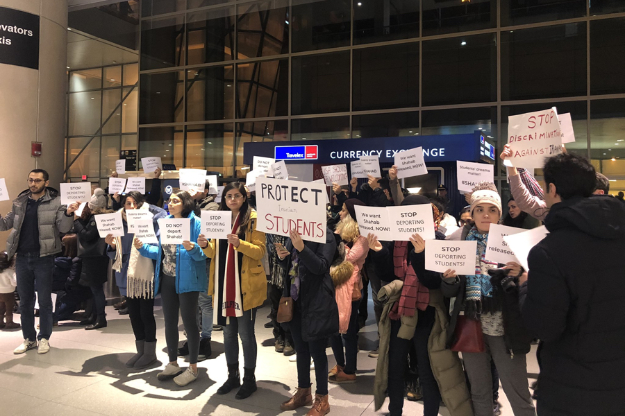 aclu logan airport protest