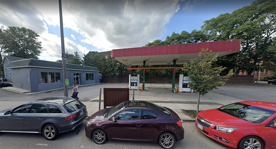 An old gas station at 579 Centre St. will become Meadowlark Butcher & Grocer