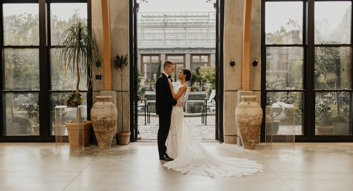 This Pair Brought Romance And Red Florals To Tower Hill Botanic Garden