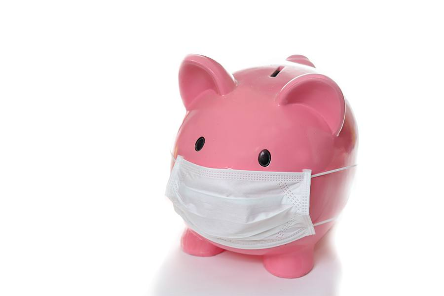 piggy bank with mask