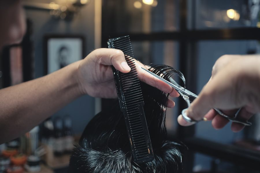mens haircut at home