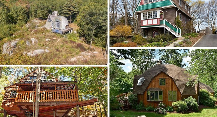 A Treehouse, Geodesic Dome, and Other New England Residences for Sale