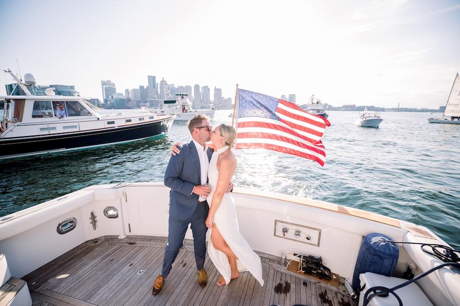 boston harbor boat wedding