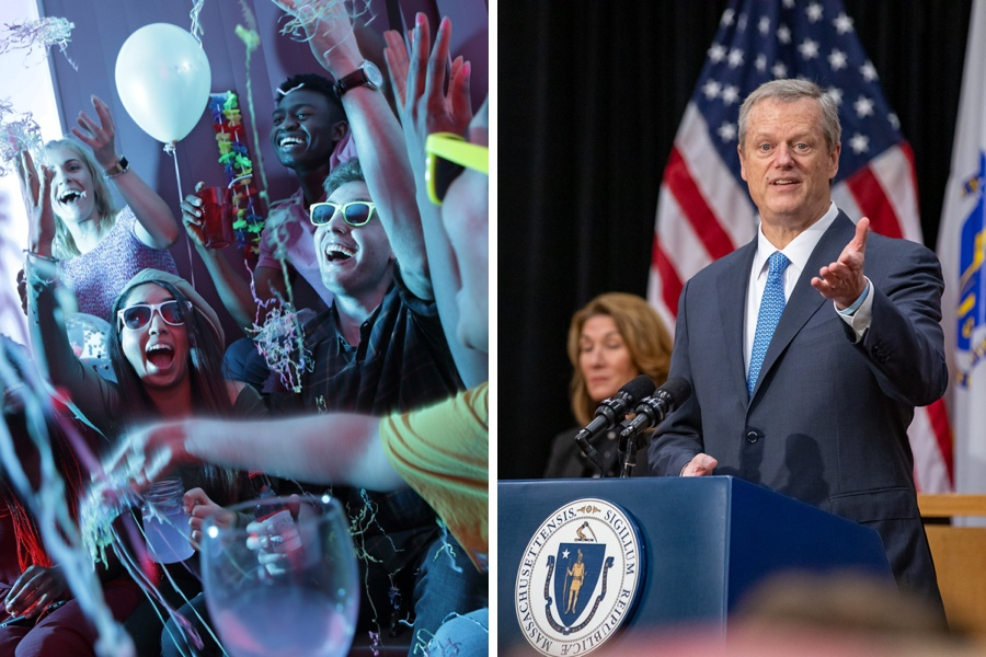 charlie baker covid parties