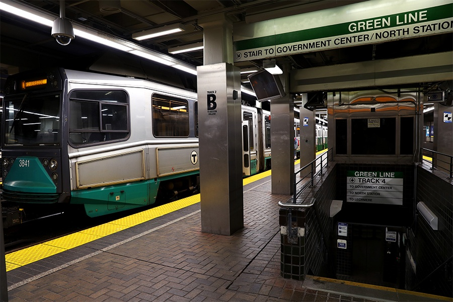 green line park street station