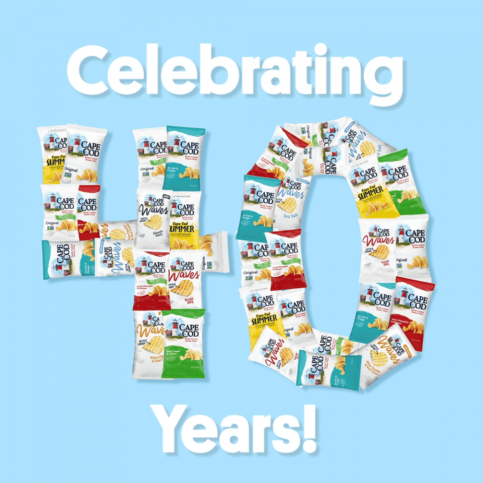cape cod potato chips 40th anniversary