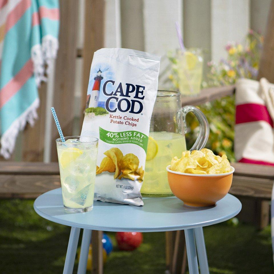 cape cod potato chips less fat
