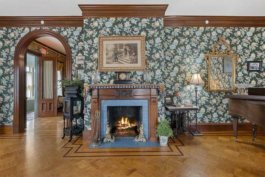 lizzie borden house fireplace