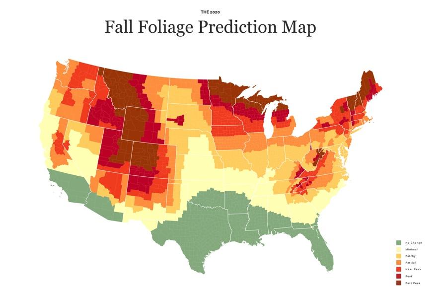 fall foliage 2020 map
