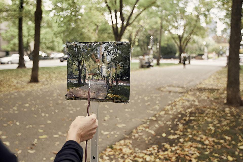boston park in fall