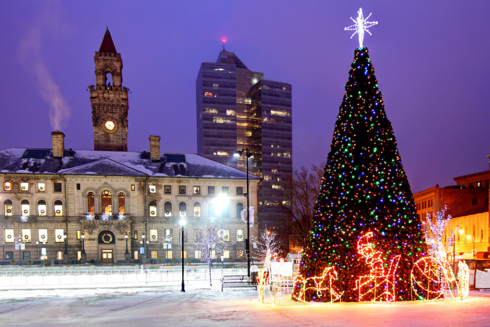Christmas in Worcester, Massachusetts