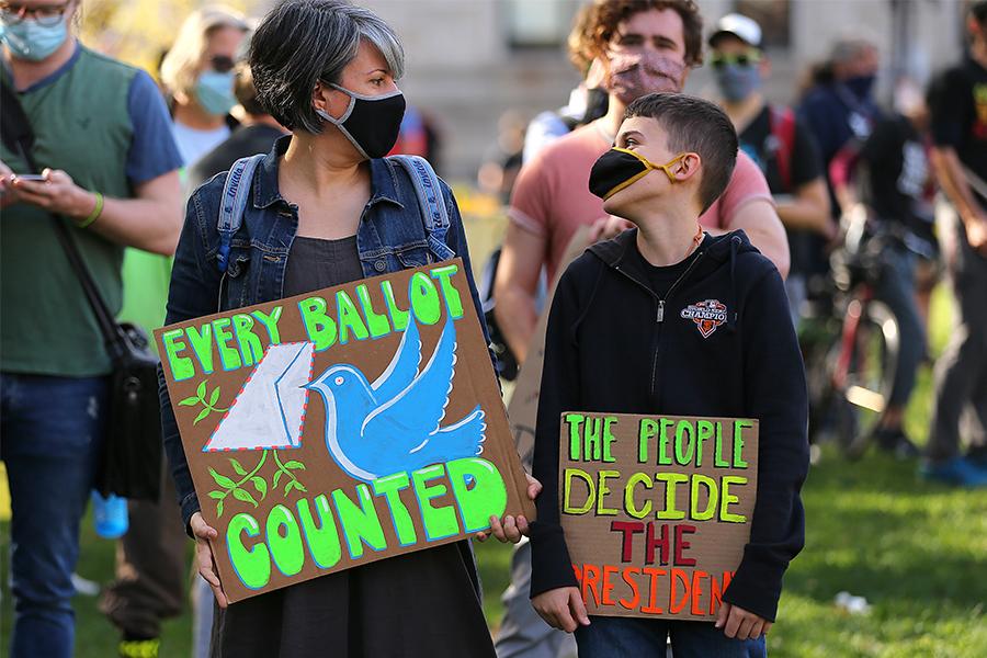 vote counting protest boston