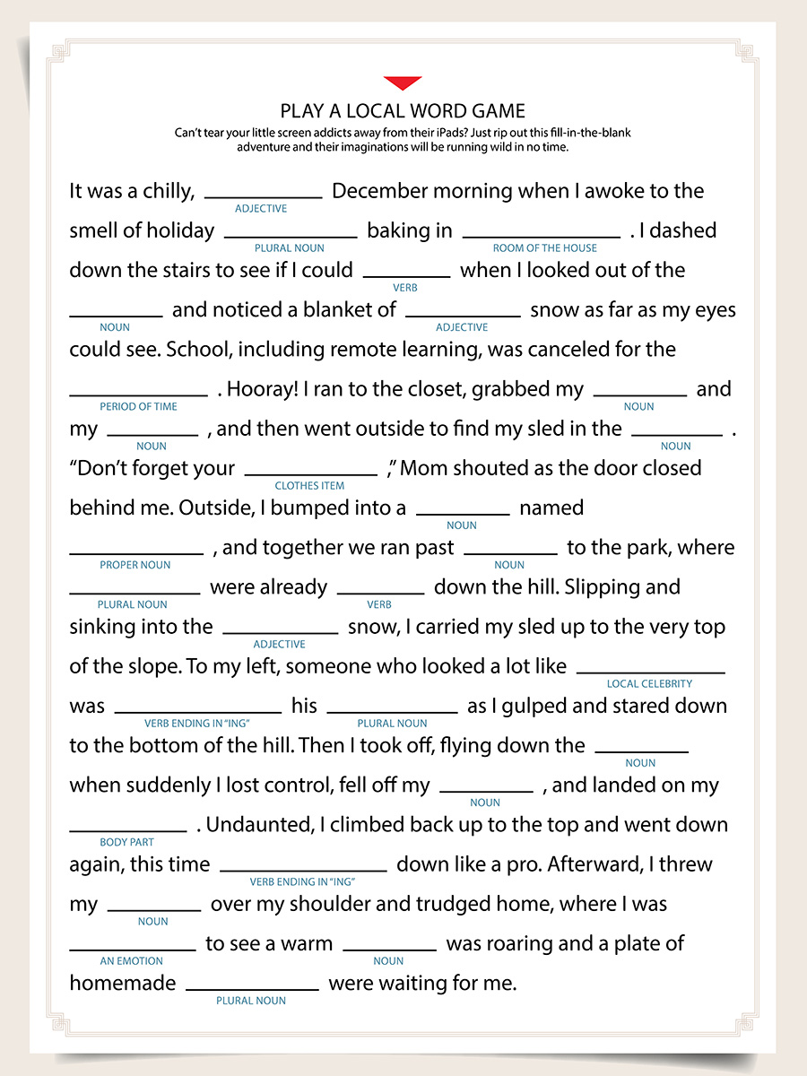 madlibs - 57 Issues To Do in and Round Boston This Winter