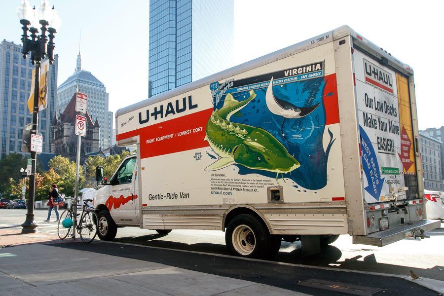 U-haul truck in Boston