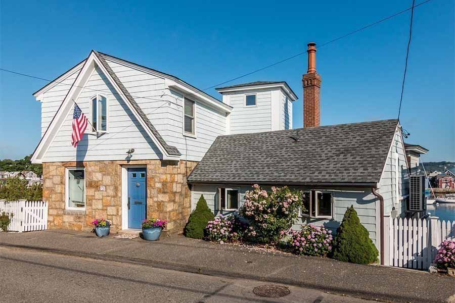 On the Market: A Rockport Beauty with a Hot Tub Facing the Harbor