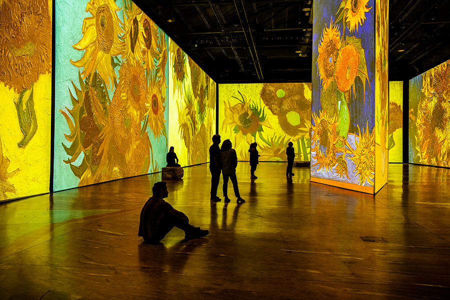 Imagine Van Gogh Exhibit in Bostonion in Boston