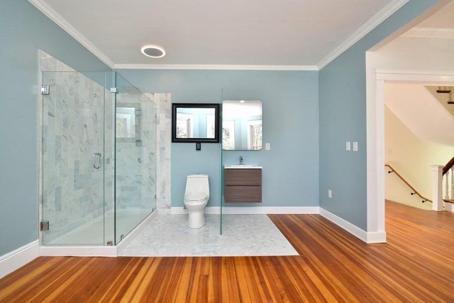 open concept bathroom b