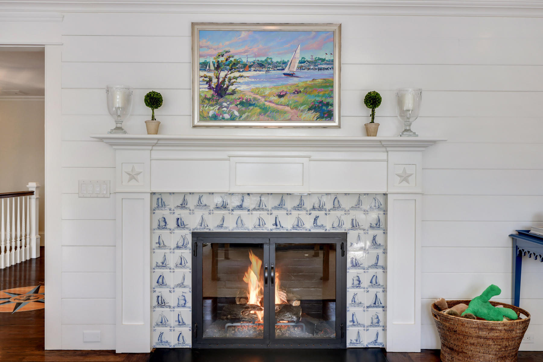 Osterville Cape fireplace